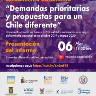 tehuelche noticias: Lanzamiento informe: Demandas prioritarias y propuestas para un Chile diferente