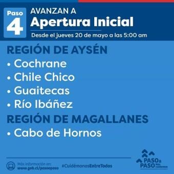 tehuelche noticias: Cuatro comunas de la región de Aysén avanzan en el plan paso a paso